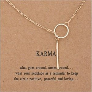 14k gold dipped karma necklace